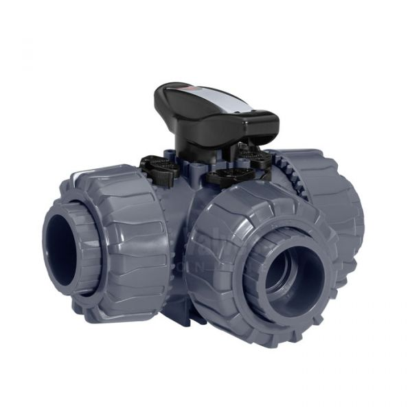3 Way PVC-U Ball Valve - Gemu 717