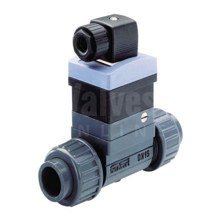 Burkert Type 8030 PVC Inline Flowmeter for Continuous Measurement