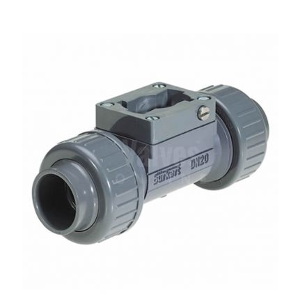 Burkert Type S030 Plastic Sensor Flow Fitting with Paddle Wheel