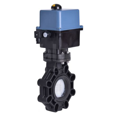 Electric Actuated Butterfly Valve PVDF Disc Extreme Series