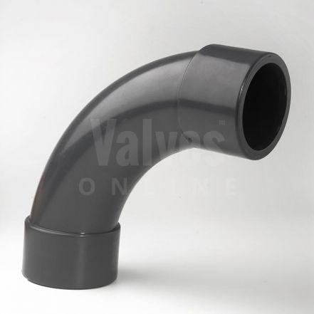 PVC 90° Plain Inch Solvent Short Radius Bend