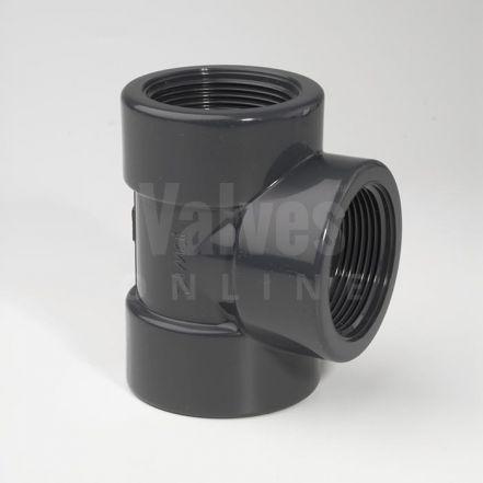 PVC 90° Threaded Tee