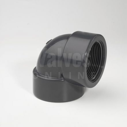 PVC 90° Plain Metric x Threaded Elbow