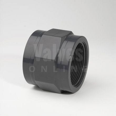 PVC Plain Metric x Threaded Socket