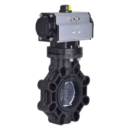 Extreme Series Pneumatically Actuated Butterfly Valve PVC-U Disc