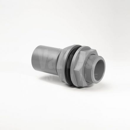 ABS Plain Inch Tank Connector x Male Thread