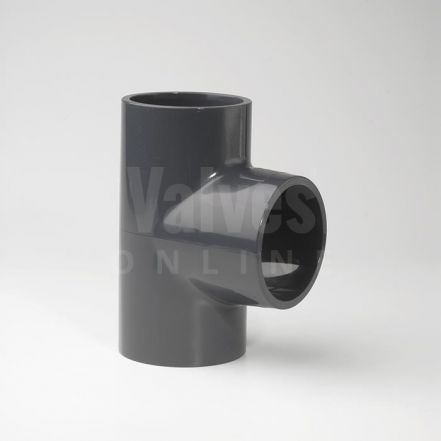 PVC 90° Plain Inch Solvent Tee