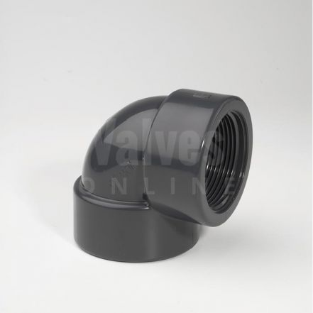 PVC 90° Plain Inch x Threaded Adaptor Elbow