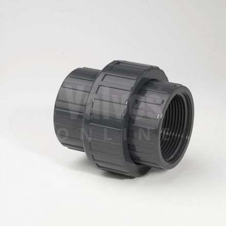 PVC Plain Metric x Threaded Adaptor Union