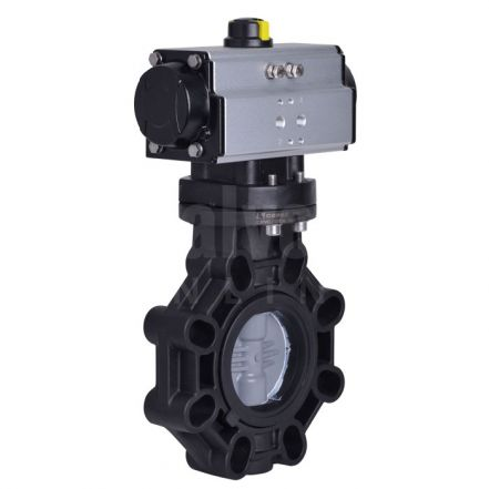 Extreme Series Pneumatically Actuated Butterfly Valve ABS Disc