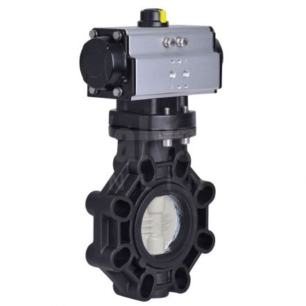 Extreme Series Pneumatically Actuated Butterfly Valve PP-H Disc
