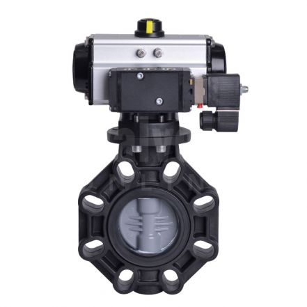 Extreme Series Pneumatically Actuated Butterfly Valve PVC-C Disc