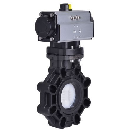 Extreme Series Pneumatically Actuated Butterfly Valve PVDF Disc
