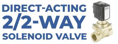 Direct-acting 2/2-way Solenoid Valve