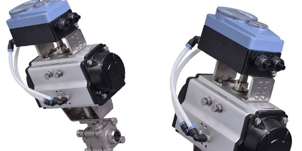 V Port Ball Valve for use to Accurately Batch Colourant in Food Industry