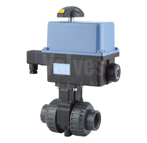 Actuated PVC Ball Valve with Polyamide Actuator