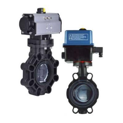 Actuated Plastic Butterfly Valves