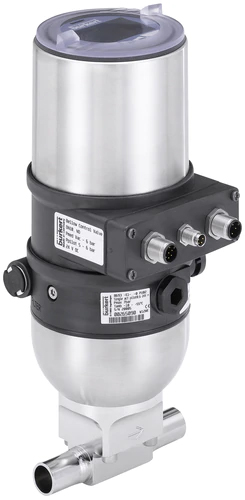 pneumatically operated control valve