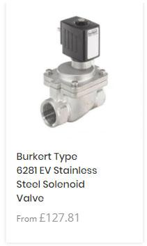 Burkert 6281 Stainless Steel Solenoid Valve