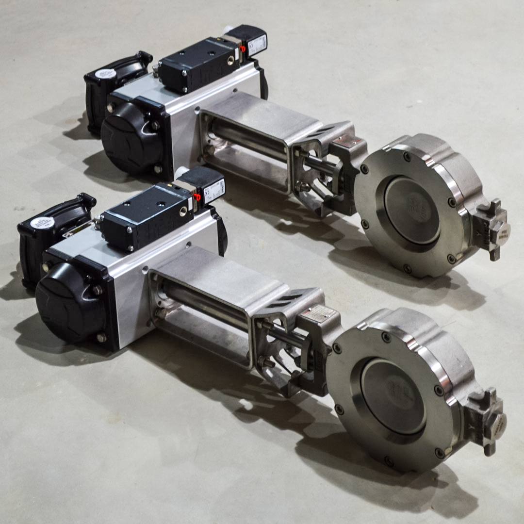 Stainless steel bray double offset butterfly valve
